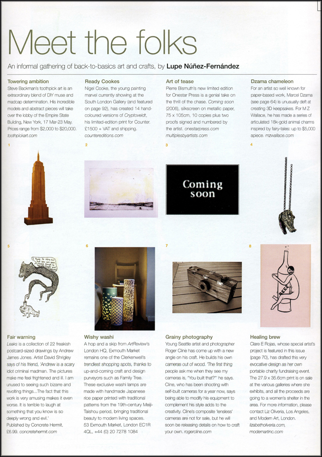 ArtReview, March/April 2006