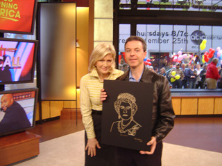 Diane Sawyer and Steven J. Backman, October 3, 2008