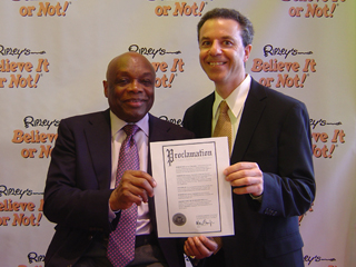 Mayor Willie Brown and Steven J. Backman, July 26, 2010