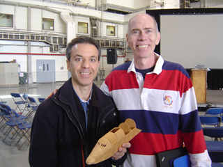 Steven J. Backman and Astronaut Dan Barry, April 8, 2011