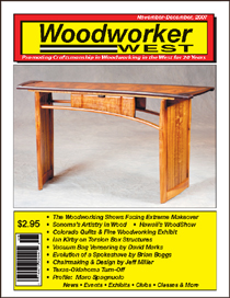 Steven J. Backman Featured in Woodworker West, November-December 2007