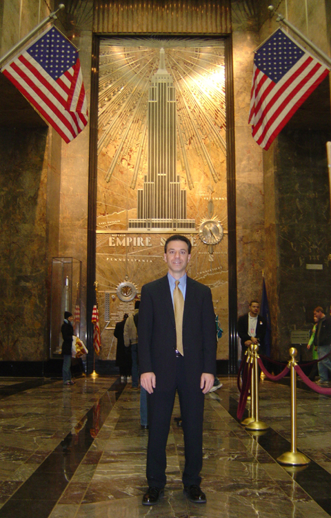 Steven J. Backman in the Empire State Building