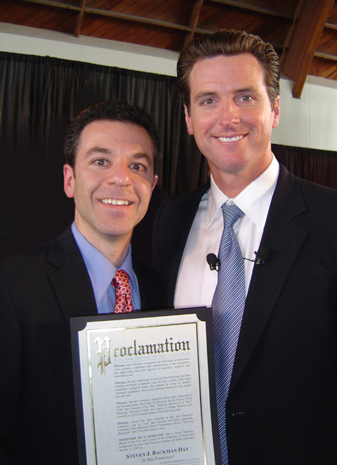 Steven J. Backman and Mayor Gavin Newsom