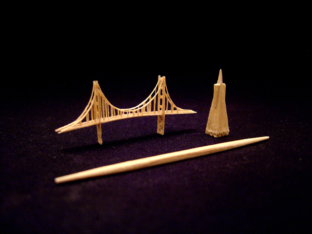 Mini Golden Gate Bridge and Mini Transamerica Pyramid