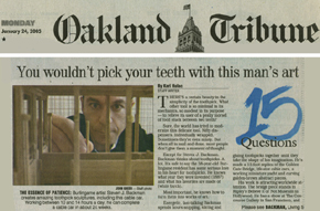 Steven J. Backman Featured in The Oakland Tribune, January 24,2005