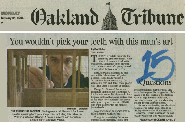 The Oakland Tribune, January 24, 2005